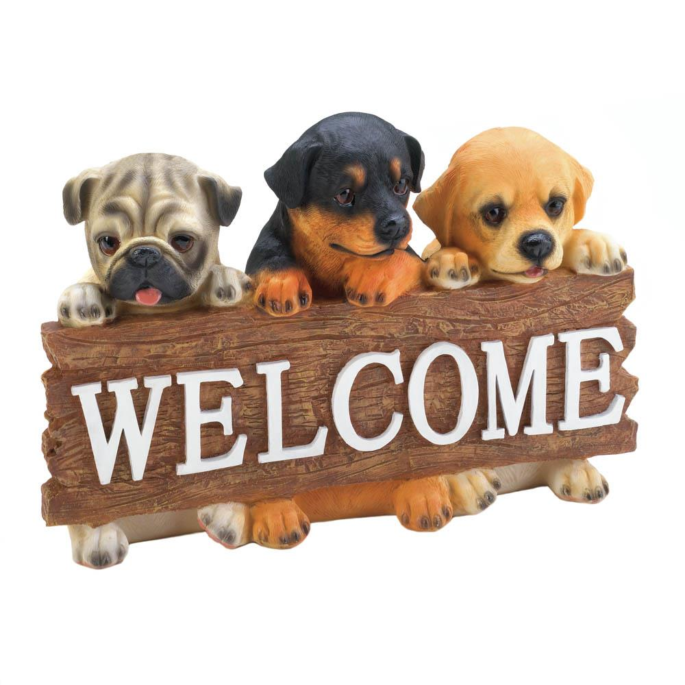 Dog Welcome Plaque Wholesale at Koehler Home Decor