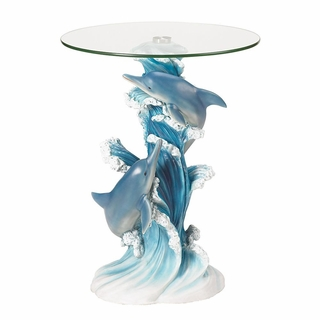 Playful Dolphins Accent Table