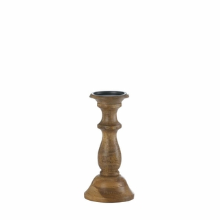 Dominion Turned Wood Candle Holder