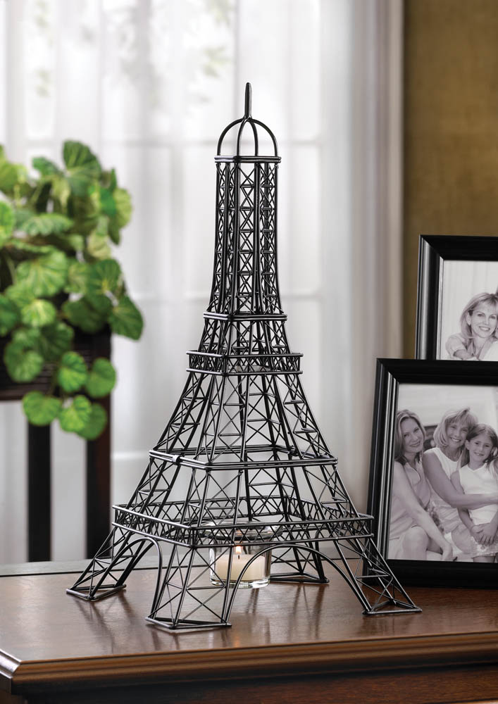 eiffel tower candle holder wholesale at koehler home decor.
