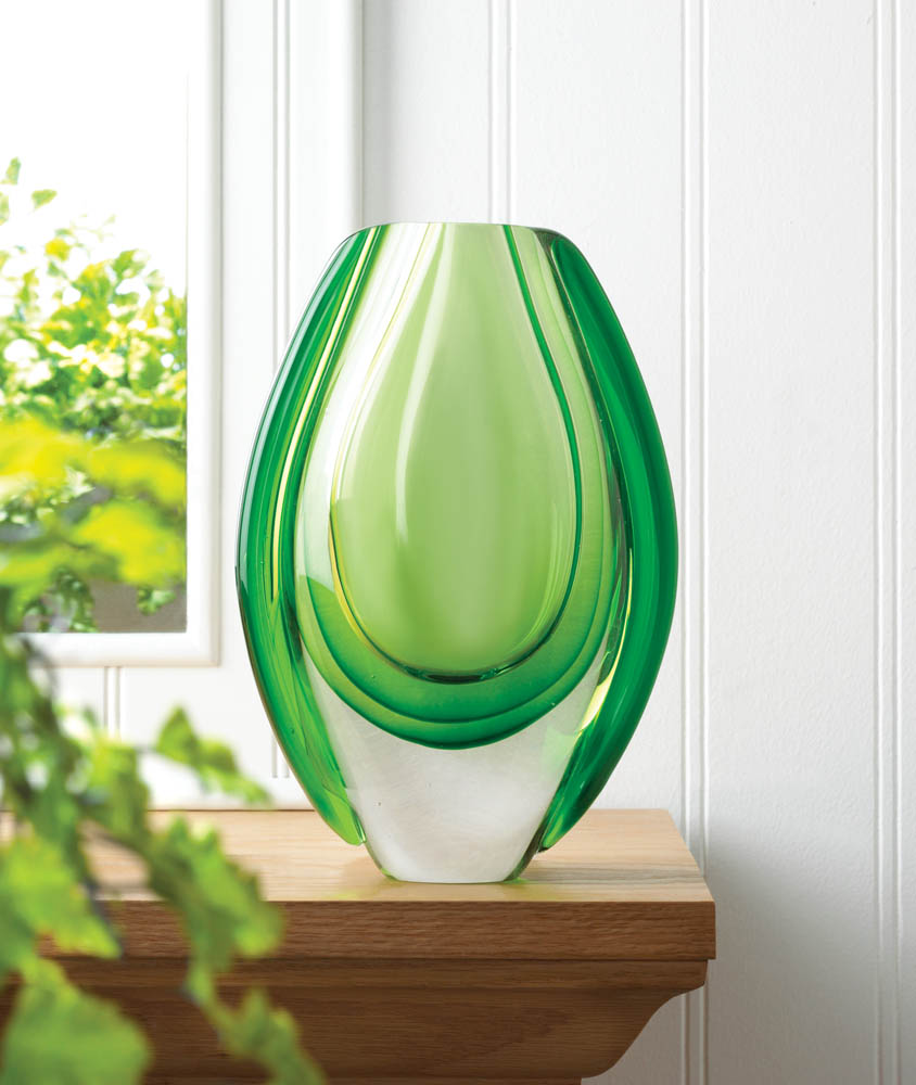 Emerald Art Glass Glamorous Emerald Art Glass Vase Wholesale At Koehler Home Decor Review