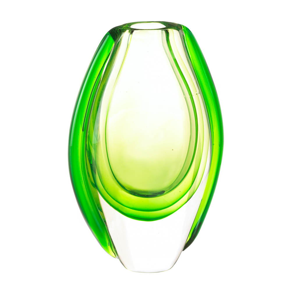 Emerald Art Glass Vase Wholesale At Koehler Home Decor