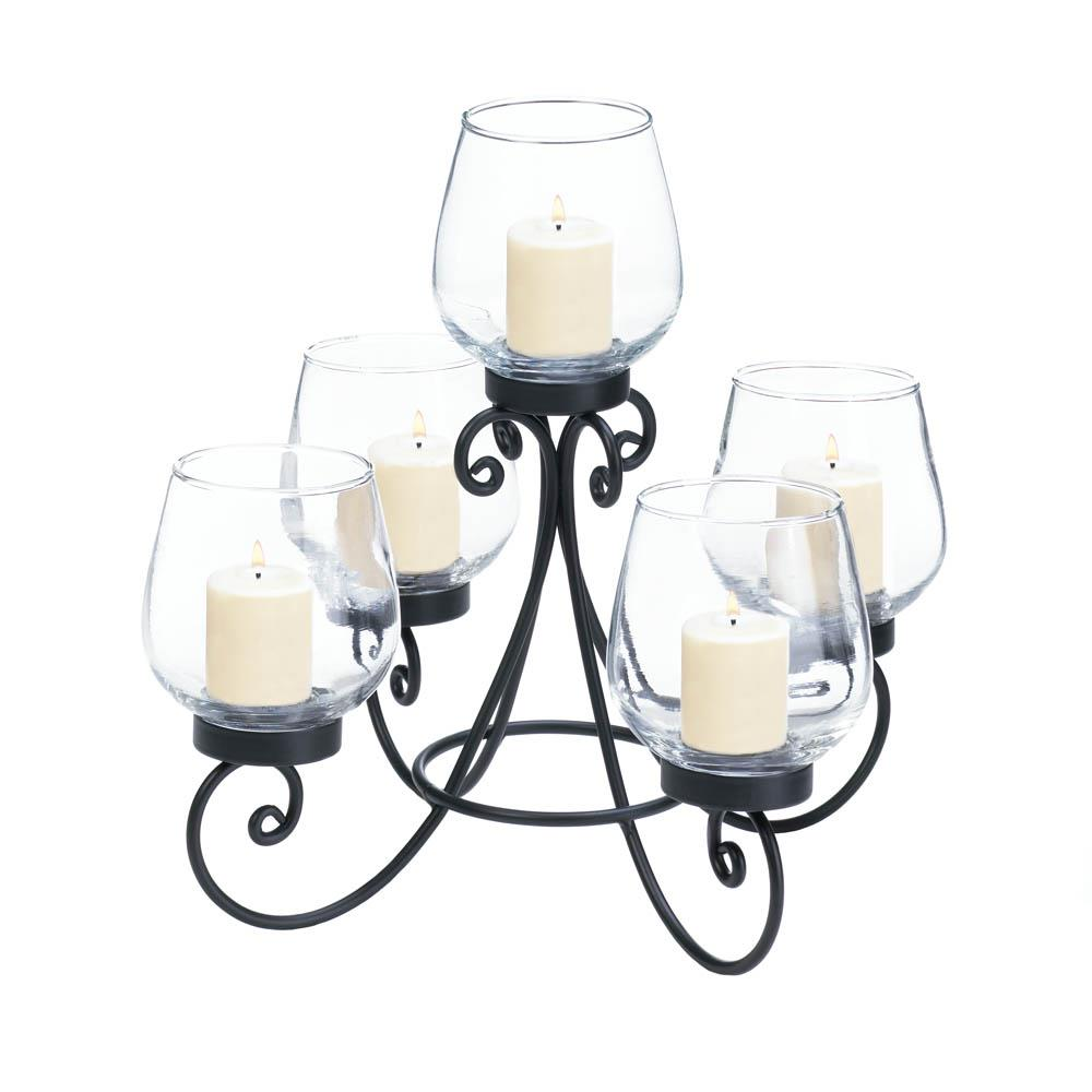 Enlightened candle centerpiece wholesale at koehler home decor