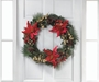 Faux Poinsettia Christmas Wreath