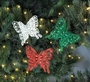 Festive Butterfly Christmas Ornament Set