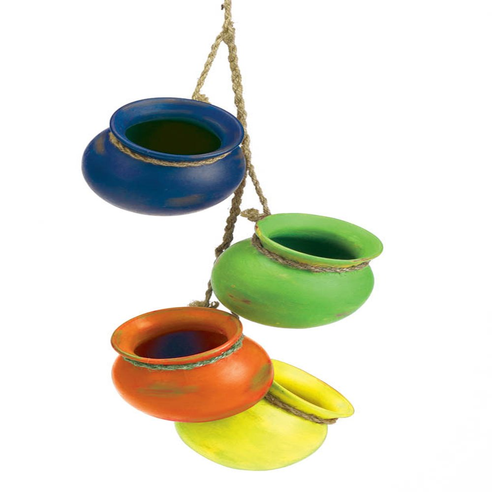 Fiesta hanging pots wholesale at koehler home decor for Decorative hanging pots