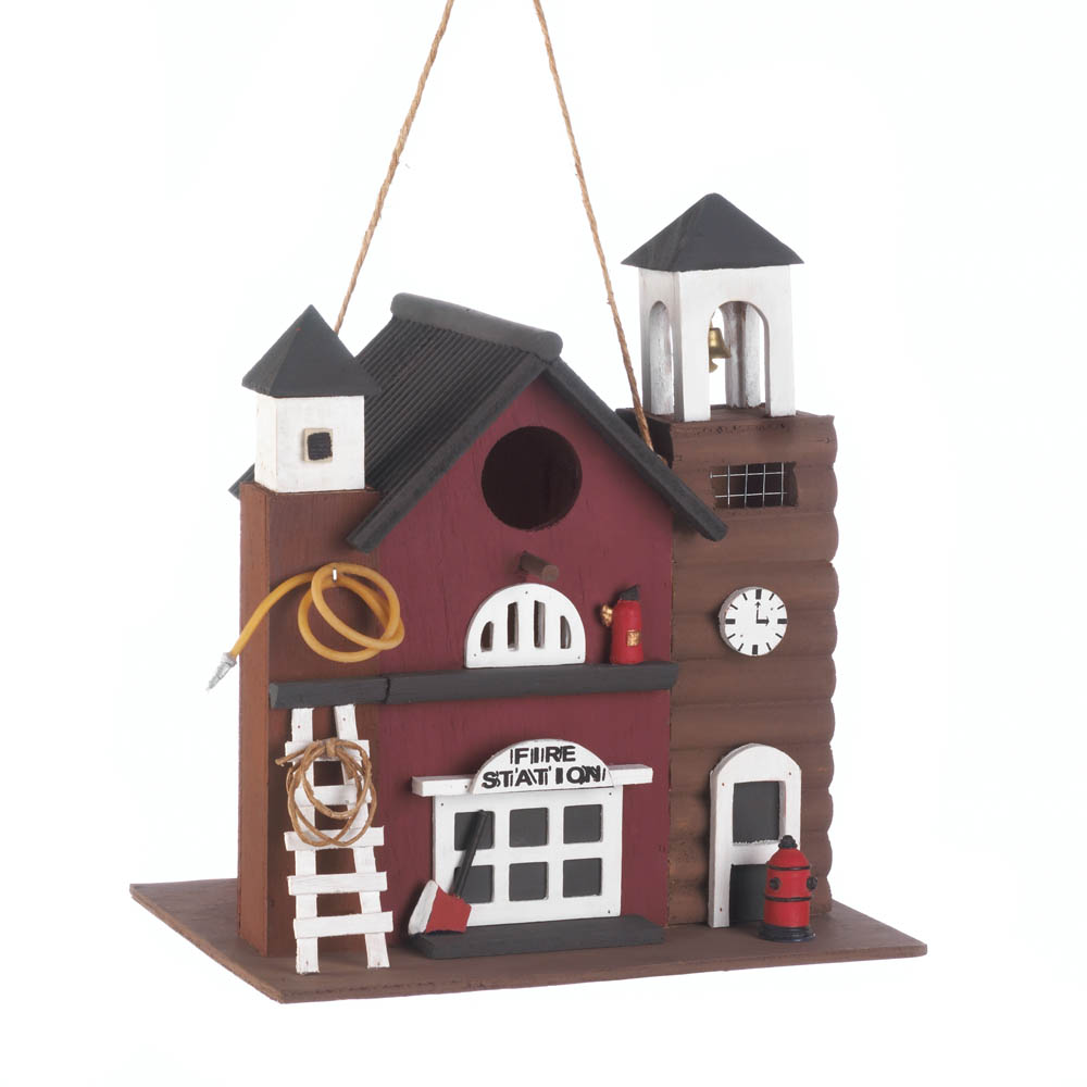 Fire station birdhouse wholesale at koehler home decor for Koehler home decor