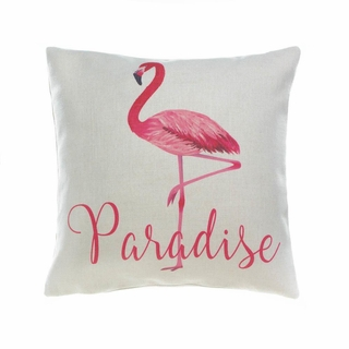 Flamingo Paradise Decorative Pillow
