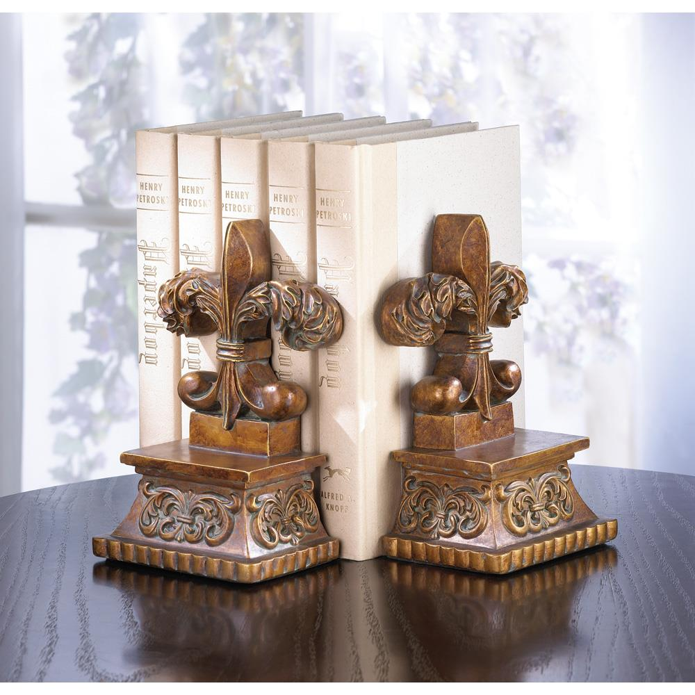 Fleur de lis bookends wholesale at koehler home decor for Fleur de lis home decorations