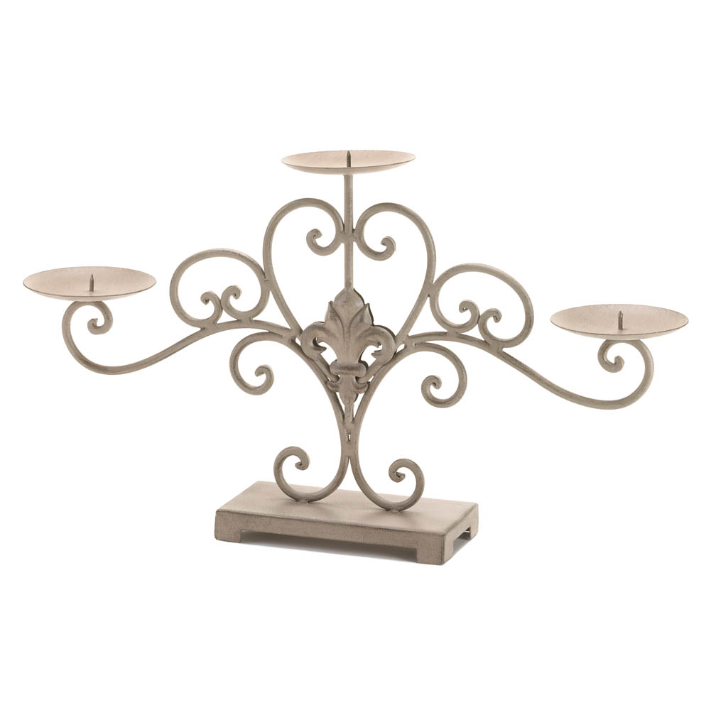 fleur-de-lis candle stand wholesale at koehler home decor