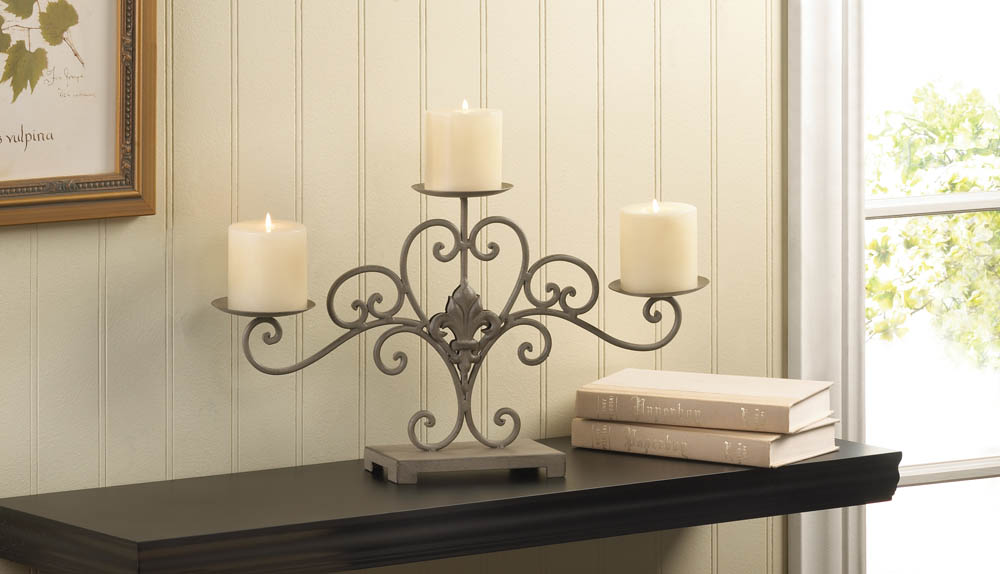FleurDeLis Candle Stand Wholesale At Koehler Home Decor - Home decor accessories wholesale