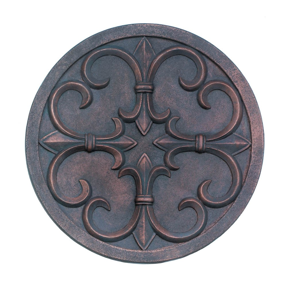 Fleur de lis garden wall plaque wholesale at koehler home decor fleur de lis garden wall plaque hover to zoom amipublicfo Image collections