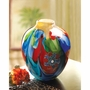 Floral Fantasia Art Glass Vase