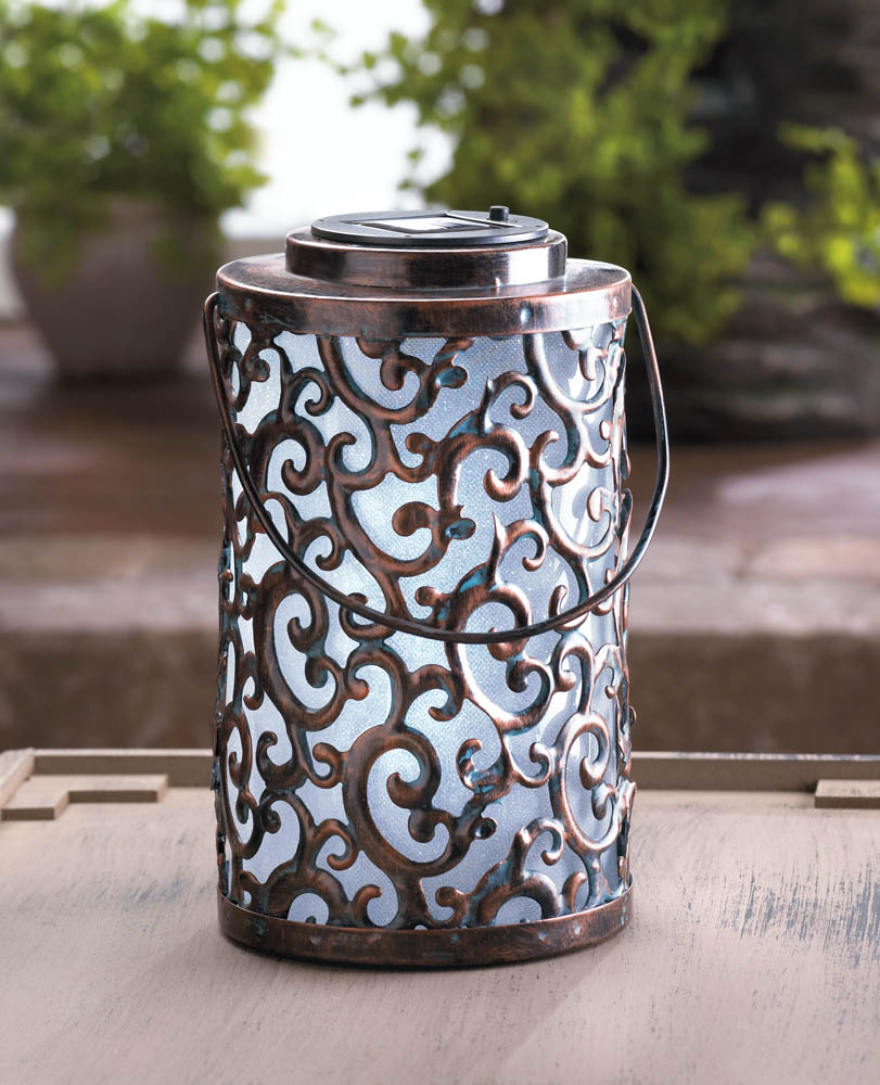 Garden gate solar lantern wholesale at koehler home decor for Wholesale decor