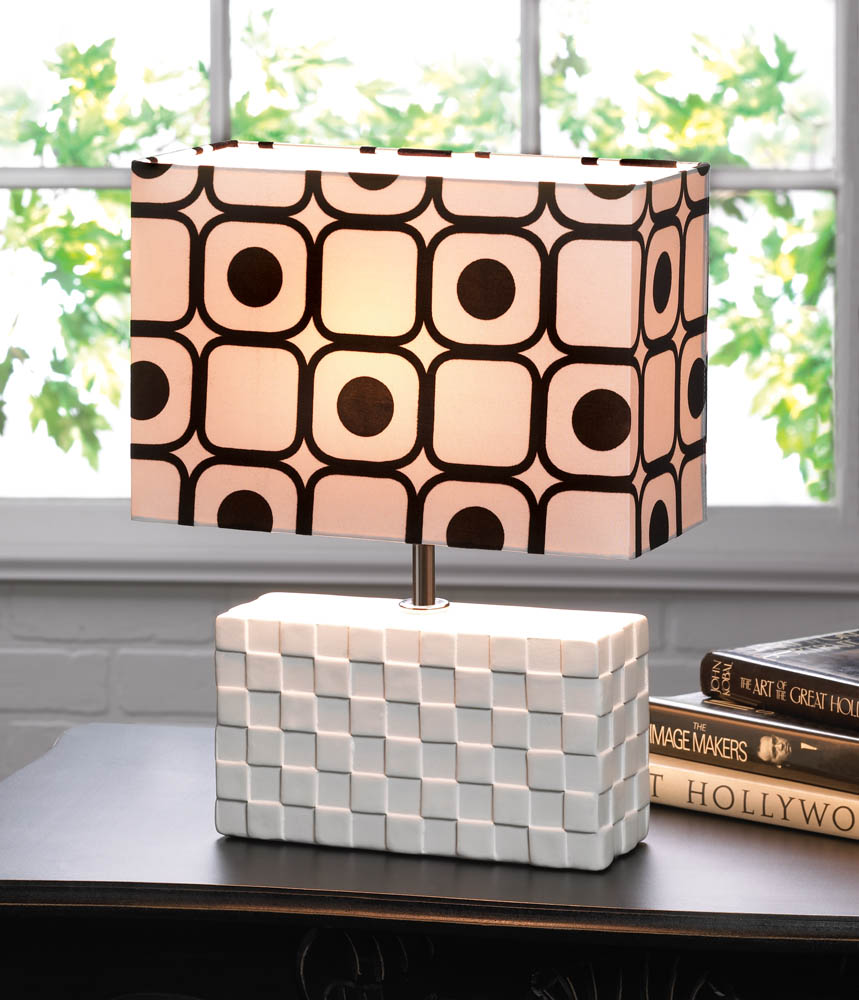 Geometric pop art table lamp wholesale at koehler home decor for Koehler home decor