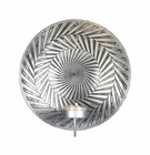 Geometric Silver Plate Wall Sconce