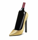 Gold Shoe Wine Bottle Holder