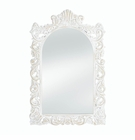 Grand Distressed White Wall Mirror