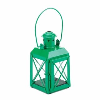 Green Railway Candle Lantern Lamp