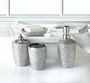 Hammered Silver Bath Accessory Set