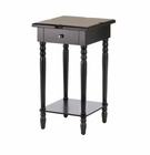 Hampton Black Wood Table