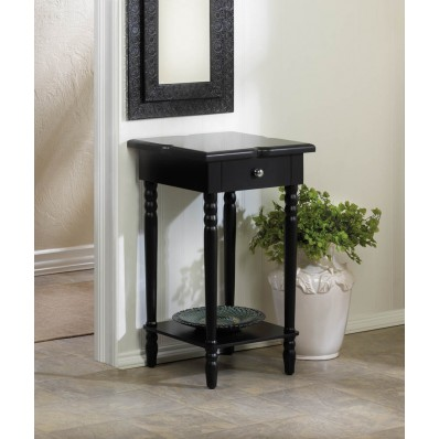 Hampton black wood table wholesale koehler home decor for Koehler home decor