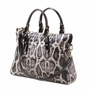 High Fashion Snake Skin Tote Handbag
