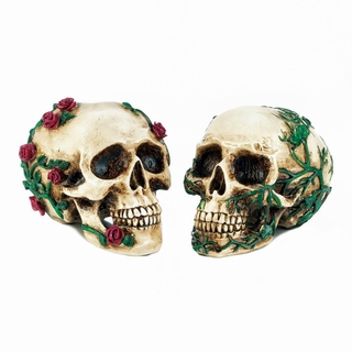 His & Hers Skull Figurines