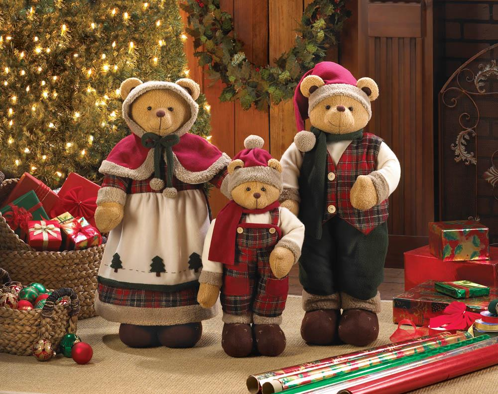 holiday bear decor family holiday bear decor family - Bear Christmas Decorations
