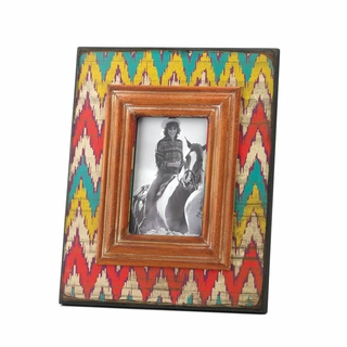 Ikat Chevron Wood Photo Frame 4 x 6