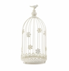 Ivory Birdcage Candle Display
