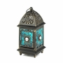 Jeweled Blue Glass Lantern