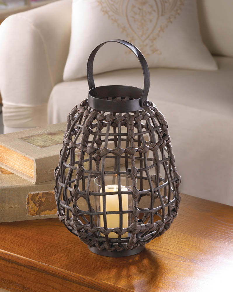 Knotted Rattan Candle Lantern Knotted Rattan Candle Lantern