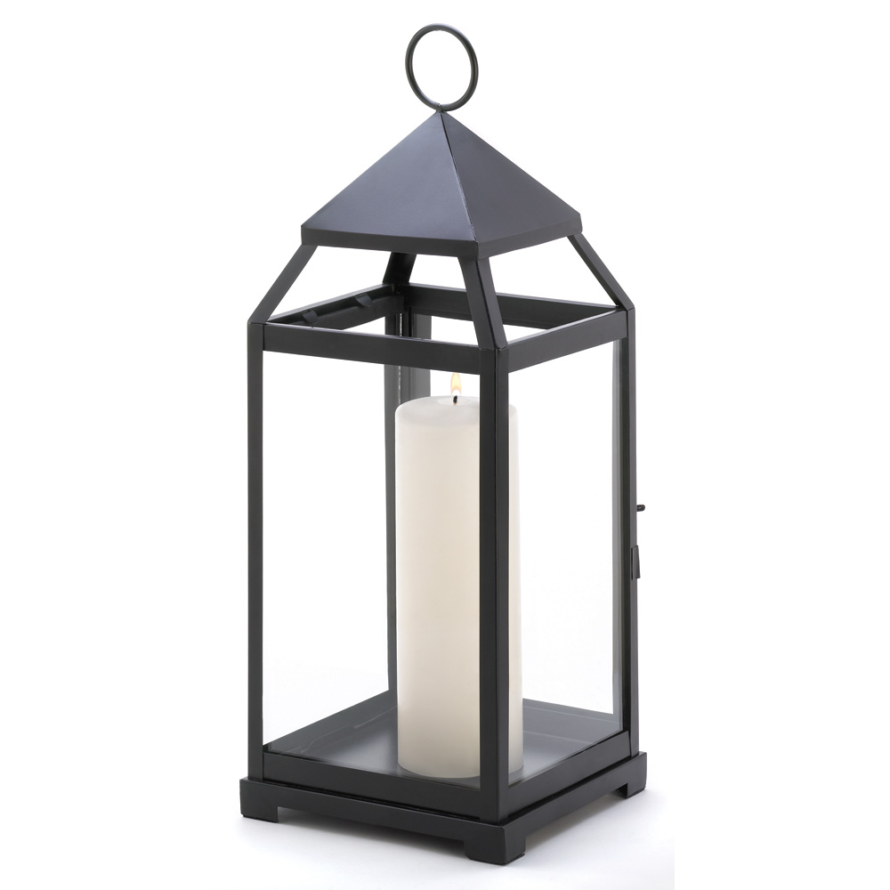 Large contemporary candle lantern wholesale at koehler for Decorating outdoor lanterns