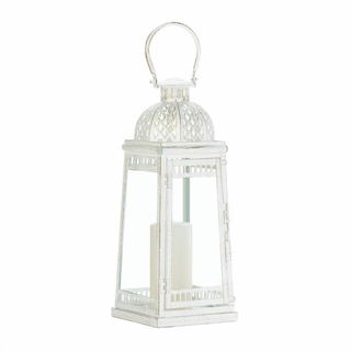 Large White Moroccan Inspiration Lantern