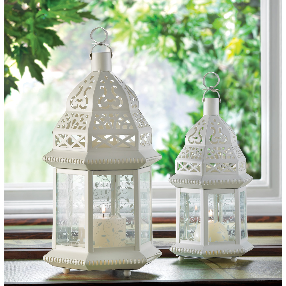 Large white moroccan lantern wholesale at koehler home decor for Koehler home decor