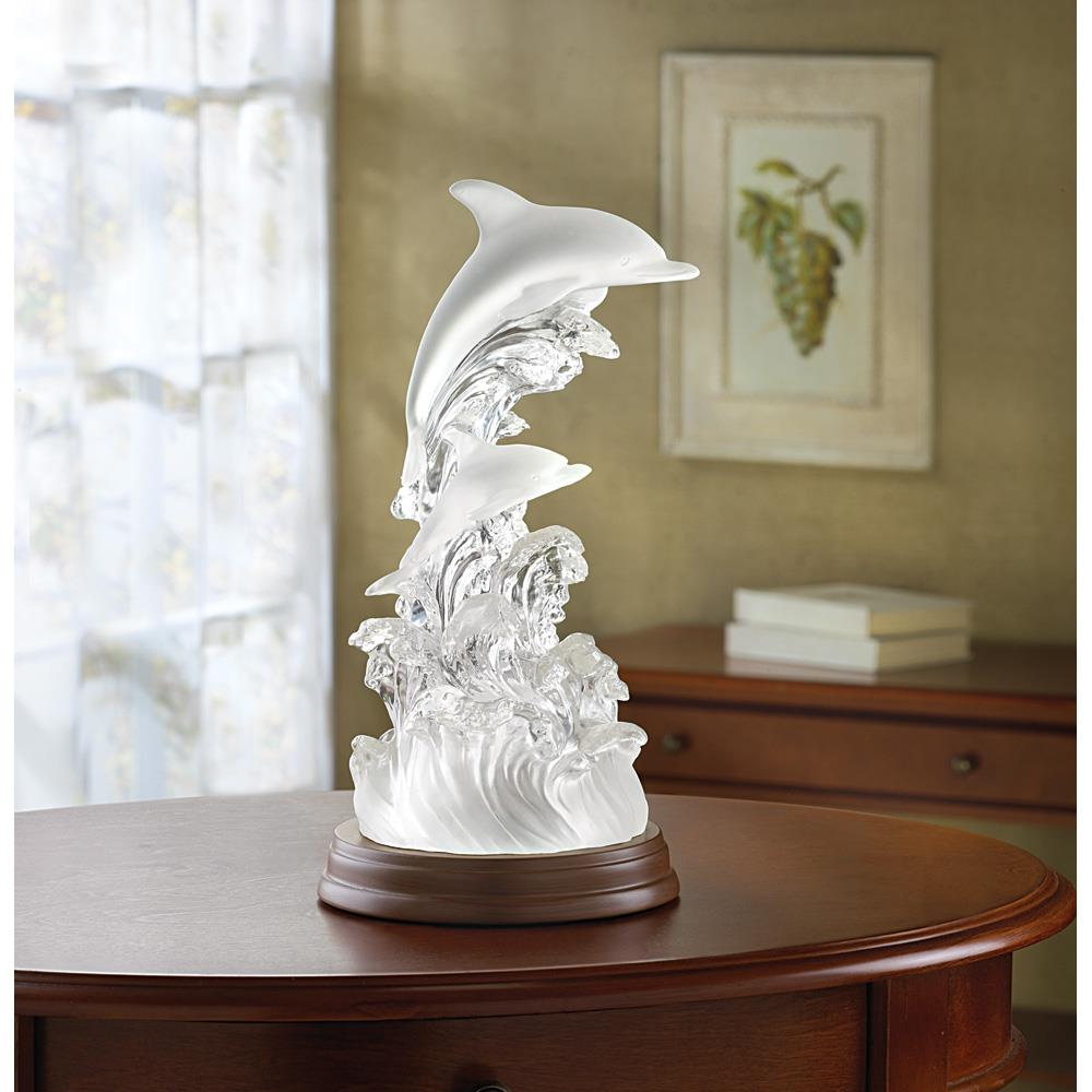 Lighted Dolphin Figurine Wholesale At Koehler Home Decor