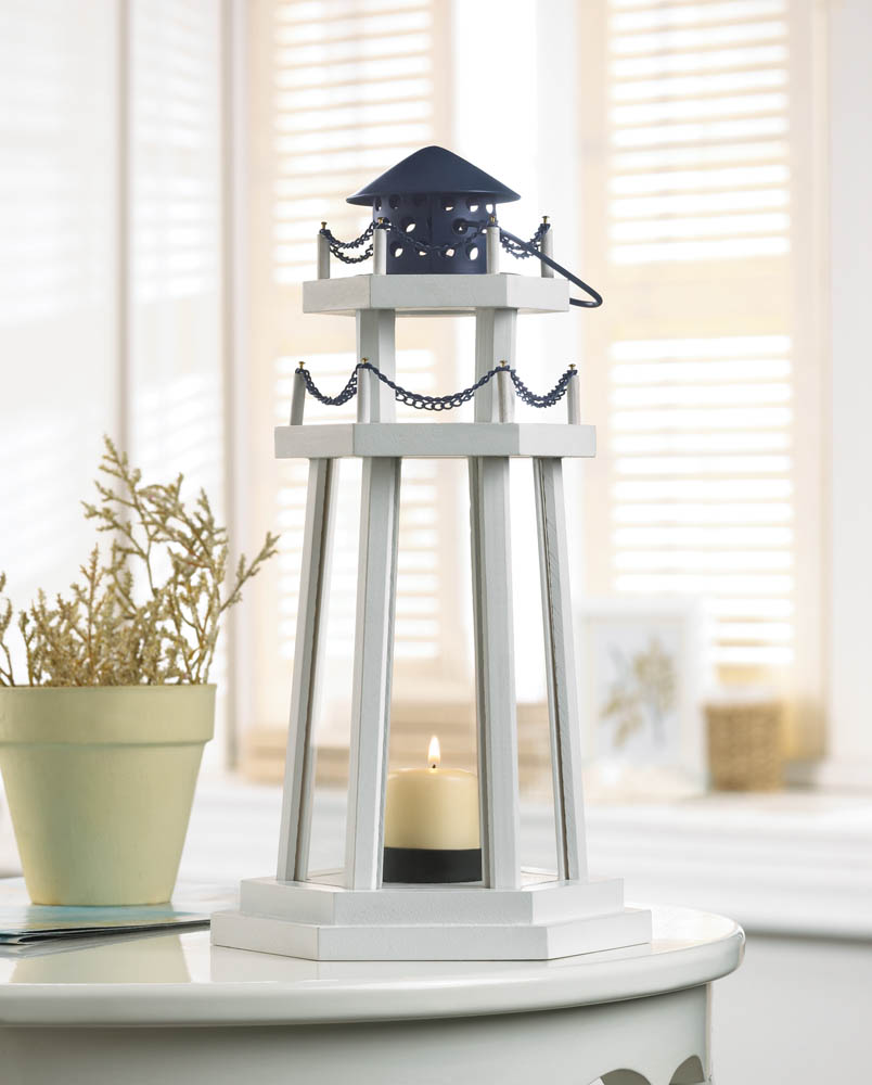 Lighthouse Point Wooden Lantern Wholesale At Koehler Home
