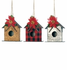 Little Birdhouse Christmas Ornament Set