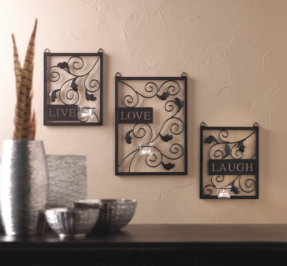 Live love laugh wall decor wholesale at koehler home decor for Wall accessories