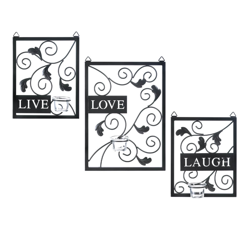 Live love laugh wall decor wholesale at koehler home decor for Live laugh love wall art
