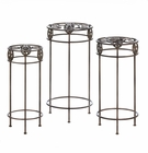 Lonestar Horseshoe Plant Stand Trio Set