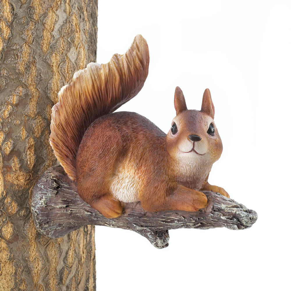 lounging squirrel tree decor wholesale at koehler home decor