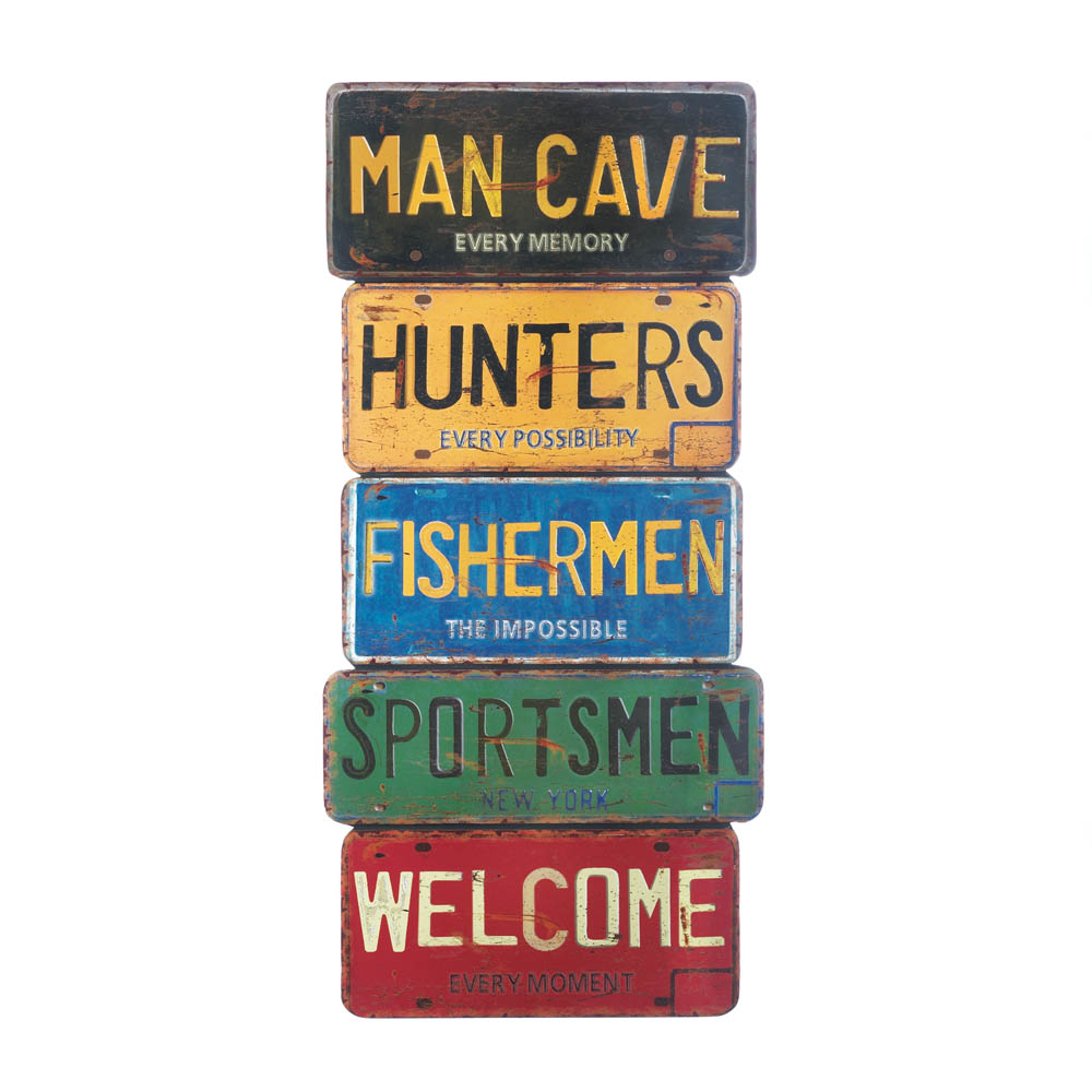 Man Cave Items Wholesale : Wholesale license plate now available at central