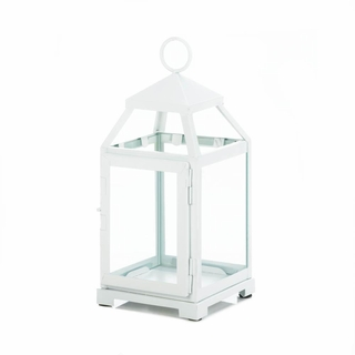 Medium  White Contemporary Lantern