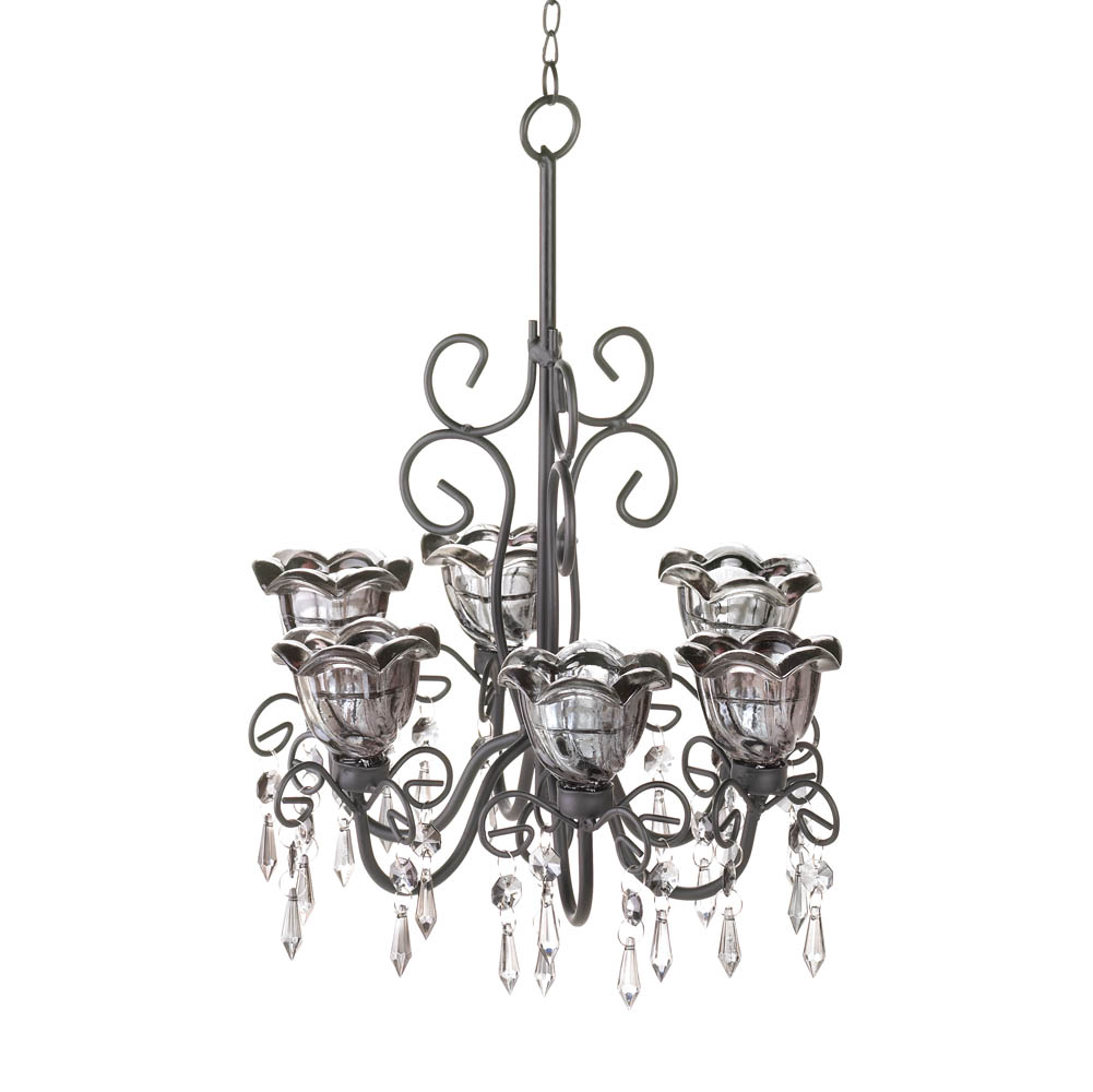 Midnight blooms black chandelier wholesale at koehler home decor midnight blooms black chandelier aloadofball Gallery
