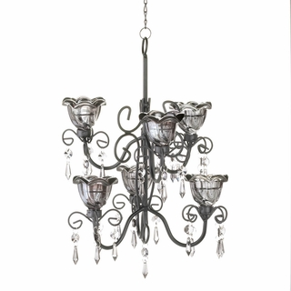 Midnight Blooms Double Chandelier