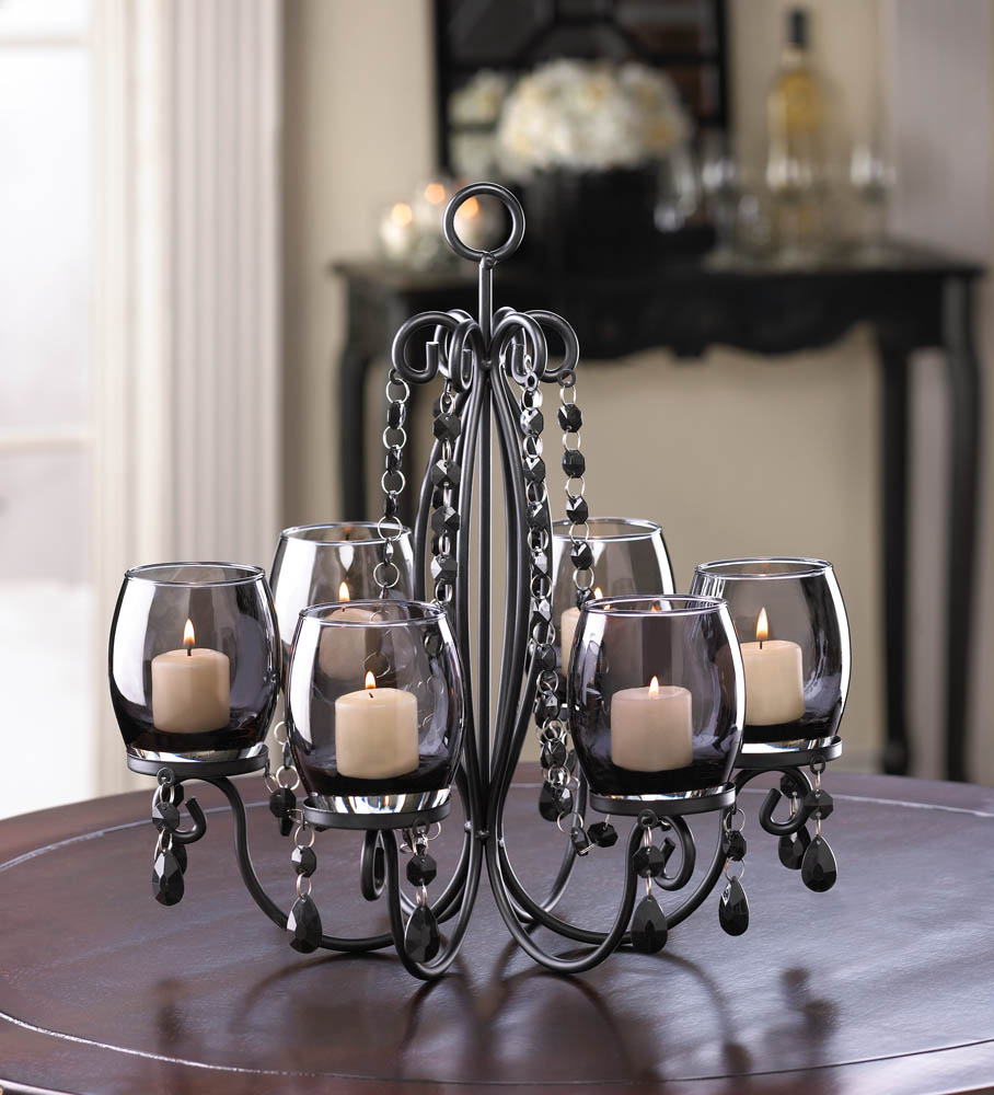 midnight elegance candle chandelier wholesale at koehler home decor