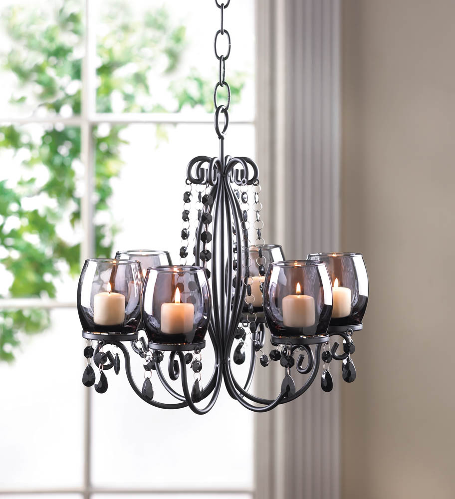 Midnight elegance candle chandelier wholesale at koehler for Koehler home decor