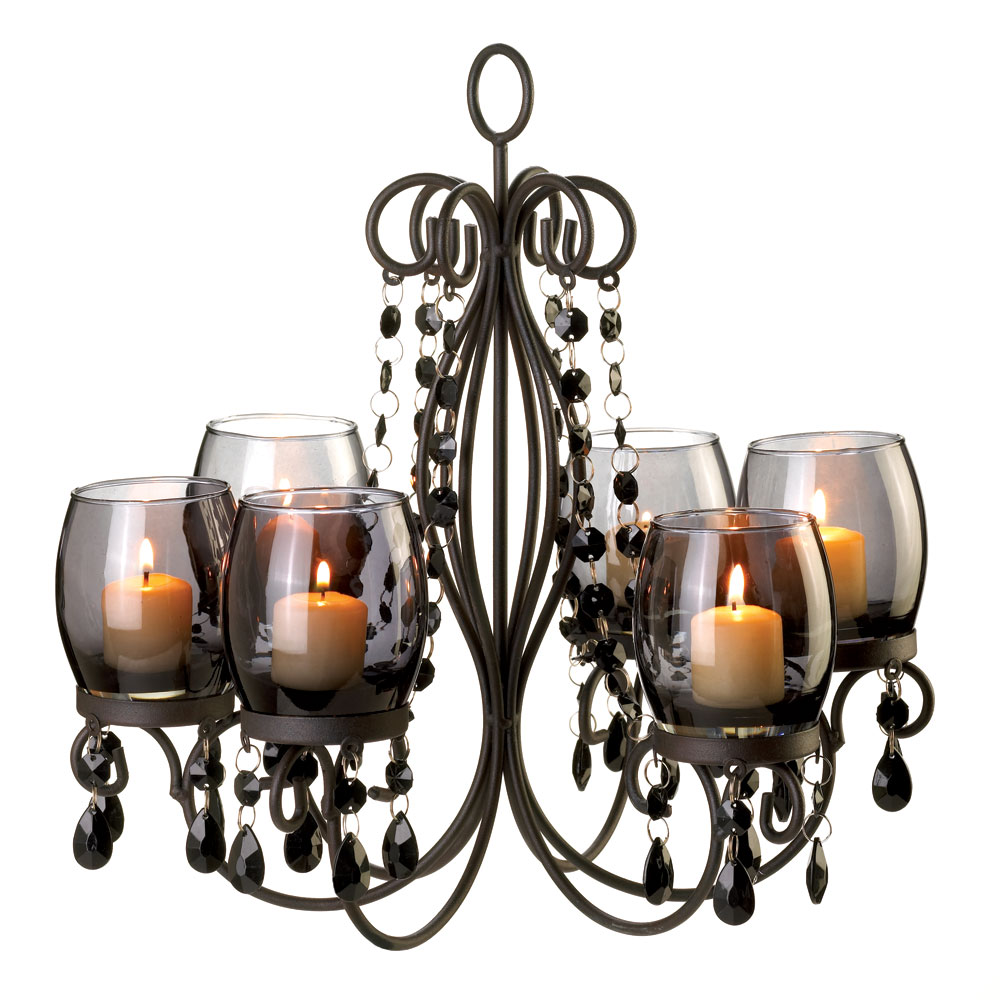 Midnight elegance candle chandelier wholesale at koehler home decor - Chandeliers for home ...